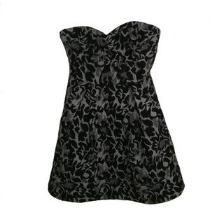 3/30$ COVET Sweetheart Brocade Wool Mini Dress